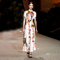 2019 Summer Fashion Bow Tie Cute Cartoon Jumpsuit Graffiti Overall Printing Wide Leg Pants Trousers Rompers Overall For Women
