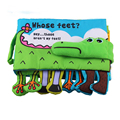 Baby Cloth Book Children Educational Toys Soft Fabric Feet Crocodile English Teaching Stereo Quiet Book Baby Toy -- BYC081 PT49