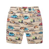 2 7Y Children Kids Boys Shorts Cartoon Cars Elatic Waist Shorts Summer Clothes