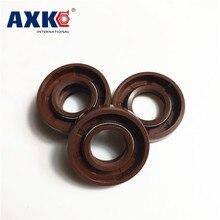 AXK 1PCS  55x75x8/10/12 Brown Viton FKM Fluorine Rubber Spring Double Two Lip TC Ring Gasket Radial Shaft Skeleton Oil Seal