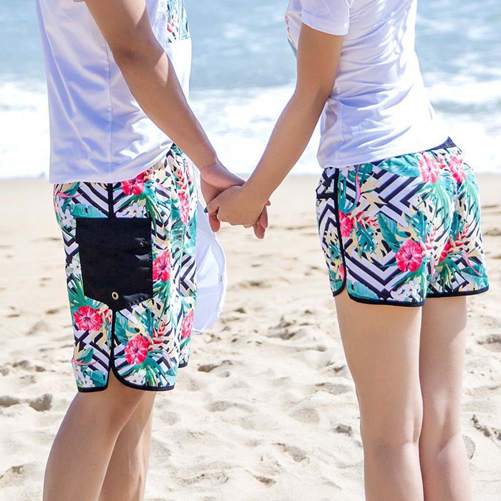 Qick Dry Men and women Beach Swim Shorts Trunks Swimwear Swimsuits Mens Swim Board Shorts Trunks Running Sports lovers Shorts