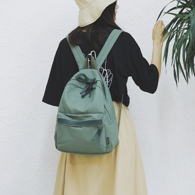 Simple solid color canvas backpack Women Canvas 911A Backpack School Bag Rucksack Travel Daypack for Student Teenage головка торцевая brigadier шестигранная с профилем super lock 3 8