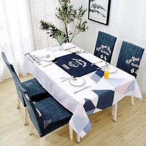 Image 3 - Parkshin Yeni Toptan İskandinav Su Geçirmez Masa Örtüsü Ev Mutfak Dikdörtgen Masa Örtüleri Parti Ziyafet yemek masası Kapak 4 Boyutu