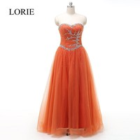 Orange Ball Gown Pageant Dresses For Women Tulle Prom Dresses 2016 Vestido De Noche Floor Length