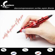 Coolmee Pens For School Pen, Novelty Fidget Spinner Anti Stress Ballpoint Pen 2 In 1 Decompression Funny Toys Pen
