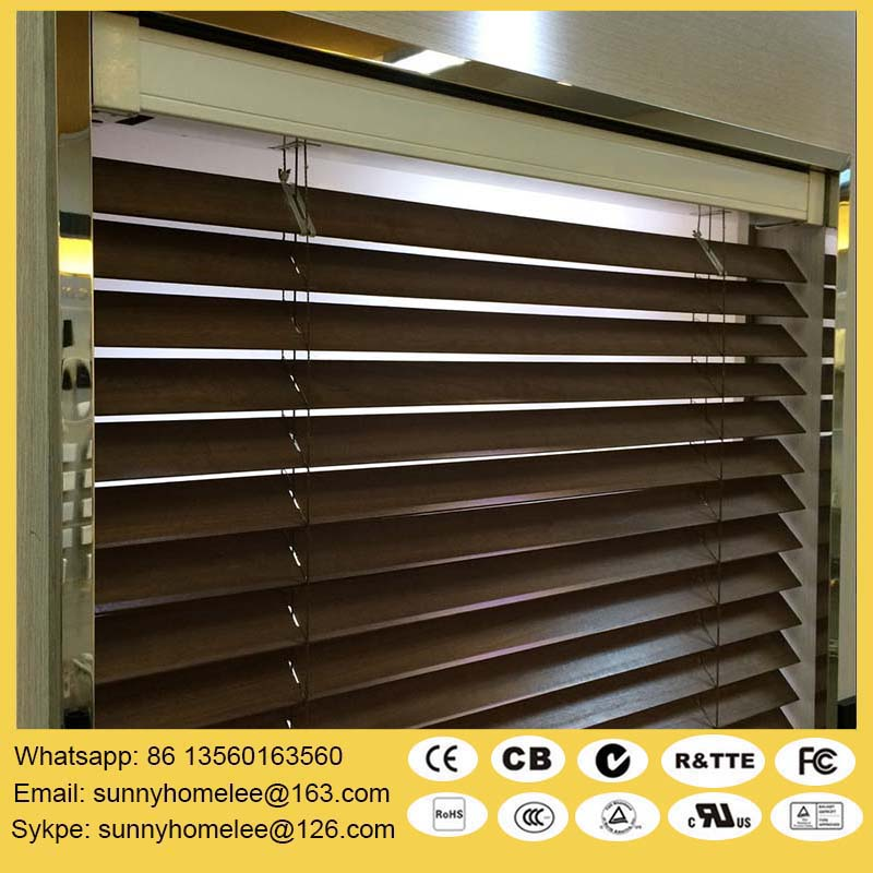 Window Blinds Motorized Wooden Venetian Blind Window: motorized window shades cost