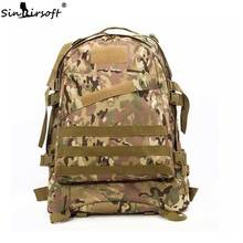 SINAIRSOFT Sports Bags Men Travel Bags Molle 3D Military Tactical Backpack Rucksack Camping Hiking Fishing 40L Outdoor LY0006