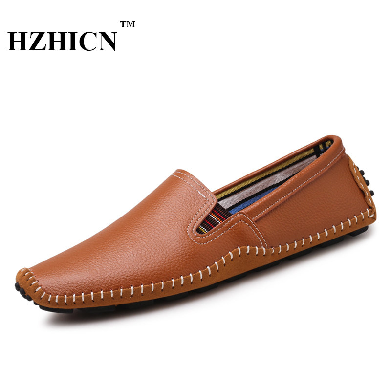 Men Leather Shoes Casual Oxfords Luxury Brand Loafers Soft and Comfortable Moccasins Non-slip New Arrival Driving Shoes Hot Sale british slip on men loafers genuine leather men shoes luxury brand soft boat driving shoes comfortable men flats moccasins 2a