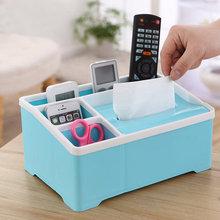 Plastic Tissue Box European Style Living Room Paper Paper Box Creative Multifunctional Remote Control Storage Box