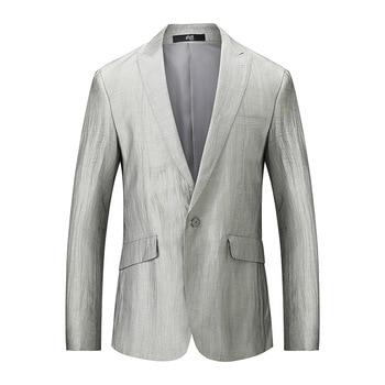 82% linen spring business men's suits casual casual single row single button suit