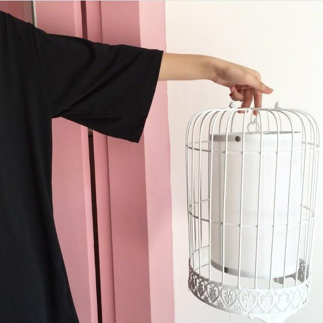 2019 Harajuku mode noir femme t-shirts été japonais gothique Vintage décontracté hauts Street Wear surdimensionné femmes mince t-shirt