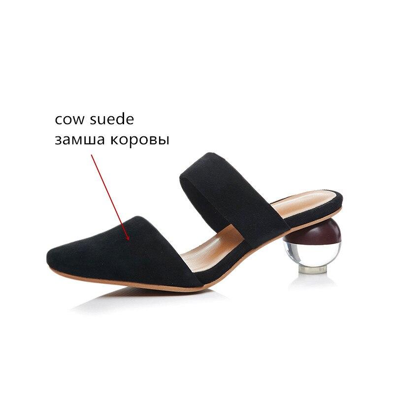 speciale Superficiale scarpe scamosciata Elegante quadrata 2019 estive Donna 43 Prom pelle Asumer Size Sandali Nero Big Donna Offerta Punta Bianco 34 Nuove qEAzI