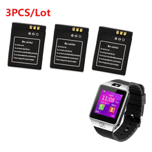 High Quality 3Pcs 3 7V 380mAh SmartWatch Rechargeable Li ion polymer battery For DZ09 Smart Watch
