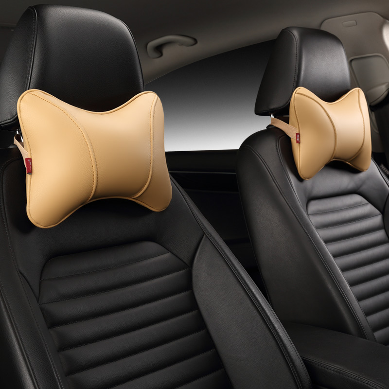 Image 4 - Car Neck Pillow Leather Seat Headrest Car Rest Cushion Car Styling  1Pair Car seat cushion headrest.-in Neck Pillow from Automobiles & Motorcycles
