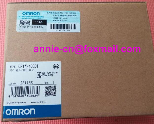 100% New and original CP1W-40EDT  OMRON  PLC CONTROLLER   Input/output unit cp1w 16er new and original omron plc controller plc module