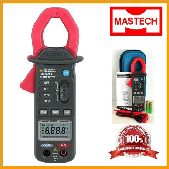 ФОТО MASTECH MS2002A 3 3/4 Mini Autorange Digital Clamp Meter