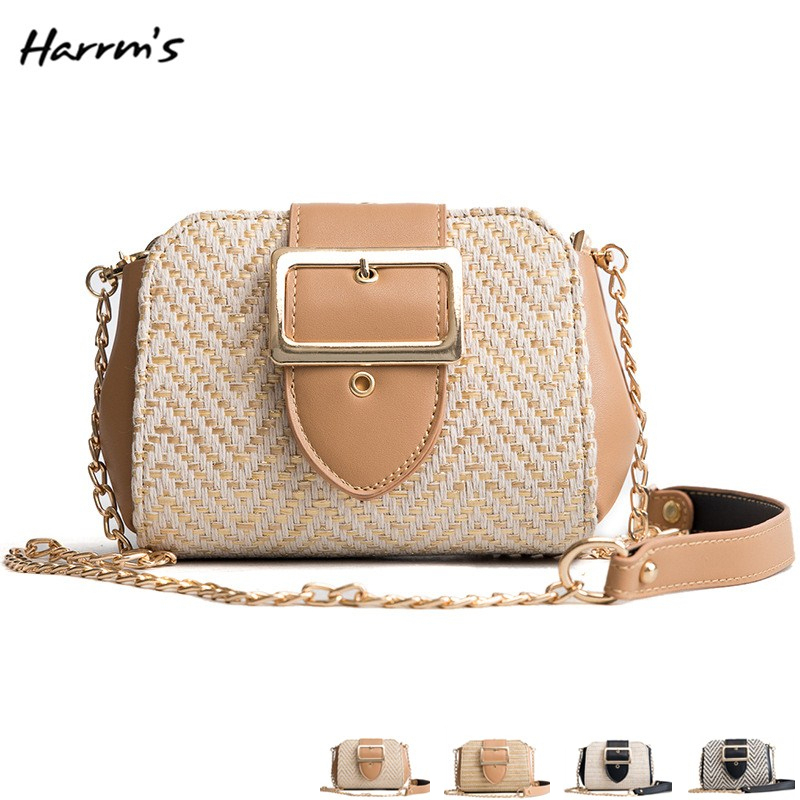 High Quality 2018 New Brand Hand Bag Fashion Casual Straw Design Women Shoulder Bag Beach Handbags Messenger Luxury Bags Gift ...