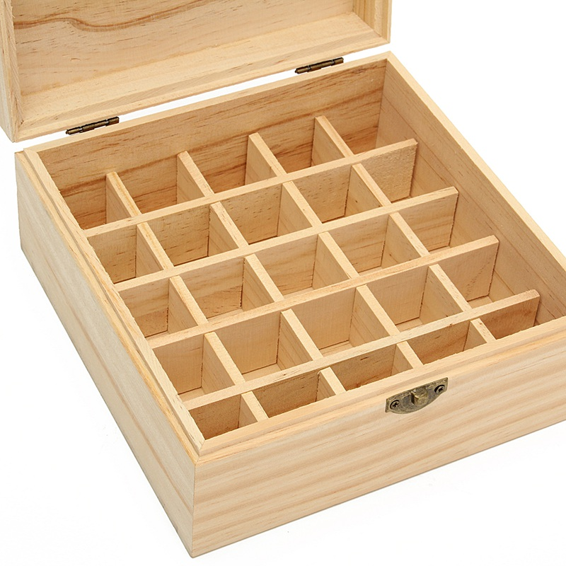 Kiwarm Essential Oils Wooden Storage Box Engraved Bottles