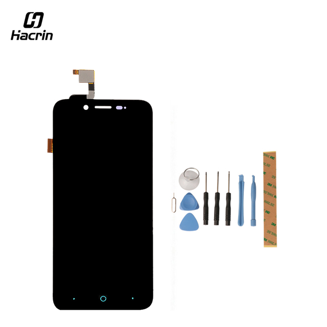 Hacrin for ZTE Blade L4 A460 LCD Display+Touch Screen 854x480 Tools Glass Panel Digitizer Accessories For ZTE Blade D T610 5.0""
