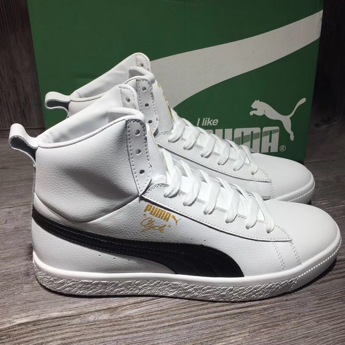 2018 New PUMA Clyde Core Mid Sneaker Classic High Board Shoes Mens and Womens Badminton Shoes Size 36-44