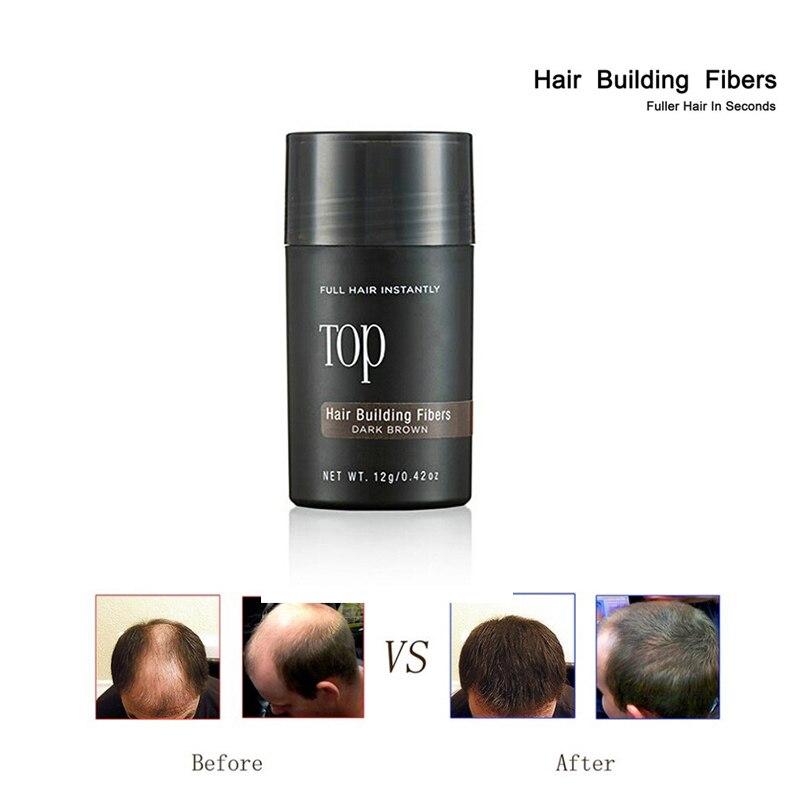 10 colores salón instantánea crecimiento Esencia de queratina de cabello fibra 12g de pelo de fibra en polvo de botella de fábrica del OEM
