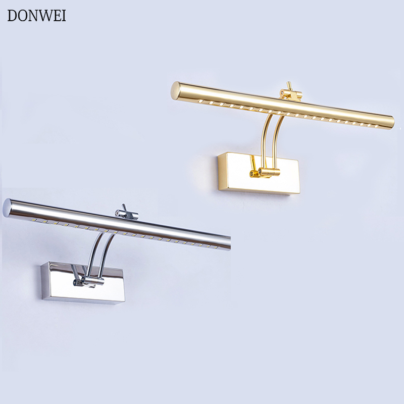 DONWEI LED Mirror Light 40CM 5W / 55CM 7W AC85-265V Modern Cosmetic Stainless Steel Wall Lamp Bathroom Mirror Front Light