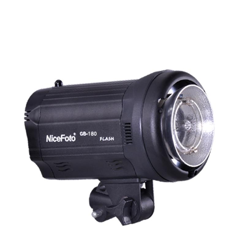 NiceFoto TGB-180 180W Studio Flash GB 180 Studio profession photography studio light lamp dicens ld 200 u2 studio lights 200w flash lamp flash light photography light flash light