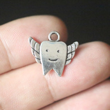 Toothpaste Toothbrush Tooth Fairy Pendant Charms for Jewelry Making DIY Handmade Vintage Tibetan Silver Accessories