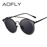 AOFLY BRAND DESIGN Women Polarized Sunglasses Round Sun Glasses Vintage Retro Mirror Circle Lens Goggles Oculos