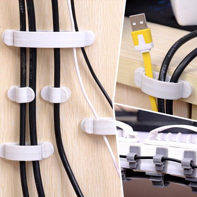 10PCS Cable Wire Wrapper Cord Wire Line Organizer Single Hole ...