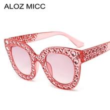 fdea610d580a5 ALOZ MICC New Women Sunglasses Luxury Rhinestone Cat Eye Sunglasses Vintage  Oversize Crystal Sun Glasses For