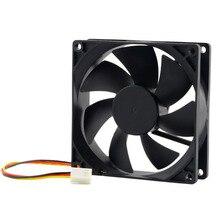 12V 3Pin Fan Cooler 9cm 90x25mm 90mm 65 CFM DC PC Cooling Fan CPU Heat Sinks Cooler