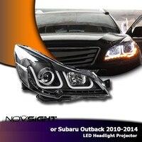 NOVSIGHT Высокое качество 2X светодио дный фары в сборе проектор фары DRL противотуманная фара для Subaru Outback 2010 2014
