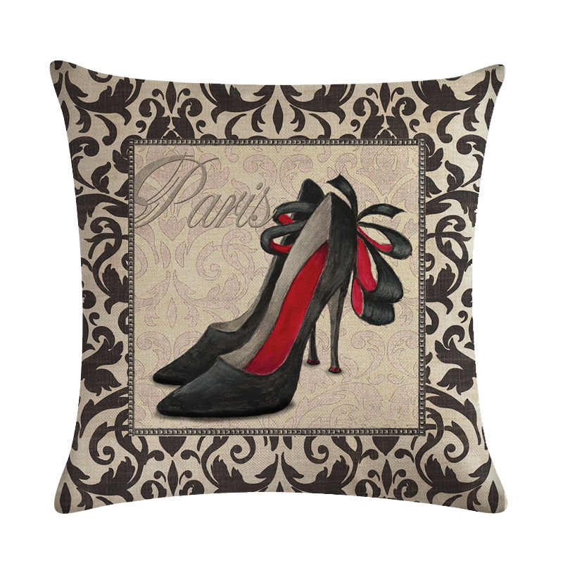 Винтаж на высоких каблуках обувь, духи сумка узор декоративное хлопковое белье наволочка для подушки сиденье для автокресла