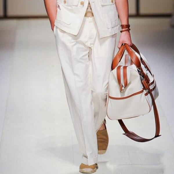 27 Mince blanc Respirant Gd Toile De Petits Noir Lin Taille Personnalisé 46 Mode Mâle Plus La Nouveau Pieds Pantalon Cônes Occasionnels Coton Lâche 9D2EIWH