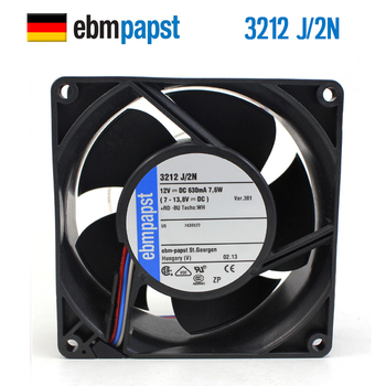 NEW ebmpapst PAPST 3212J/2N 9038 DC12V 9238 double ball bearing server cooling fan