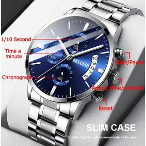 Image 3 - גברים של שעון יוקרה מותג BELUSHI גבוהה סוף איש עסקים מקרית שעונים Mens עמיד למים ספורט קוורץ שעוני יד relogio masculino