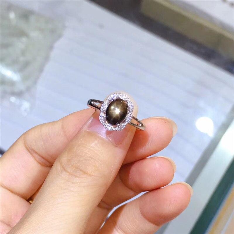 Bague élégante en saphir étoile naturelle WEAINY, véritable argent Sterling S925, bijoux de qualité supérieure pour anniversaire de fête de pierres précieuses pour femme - 5