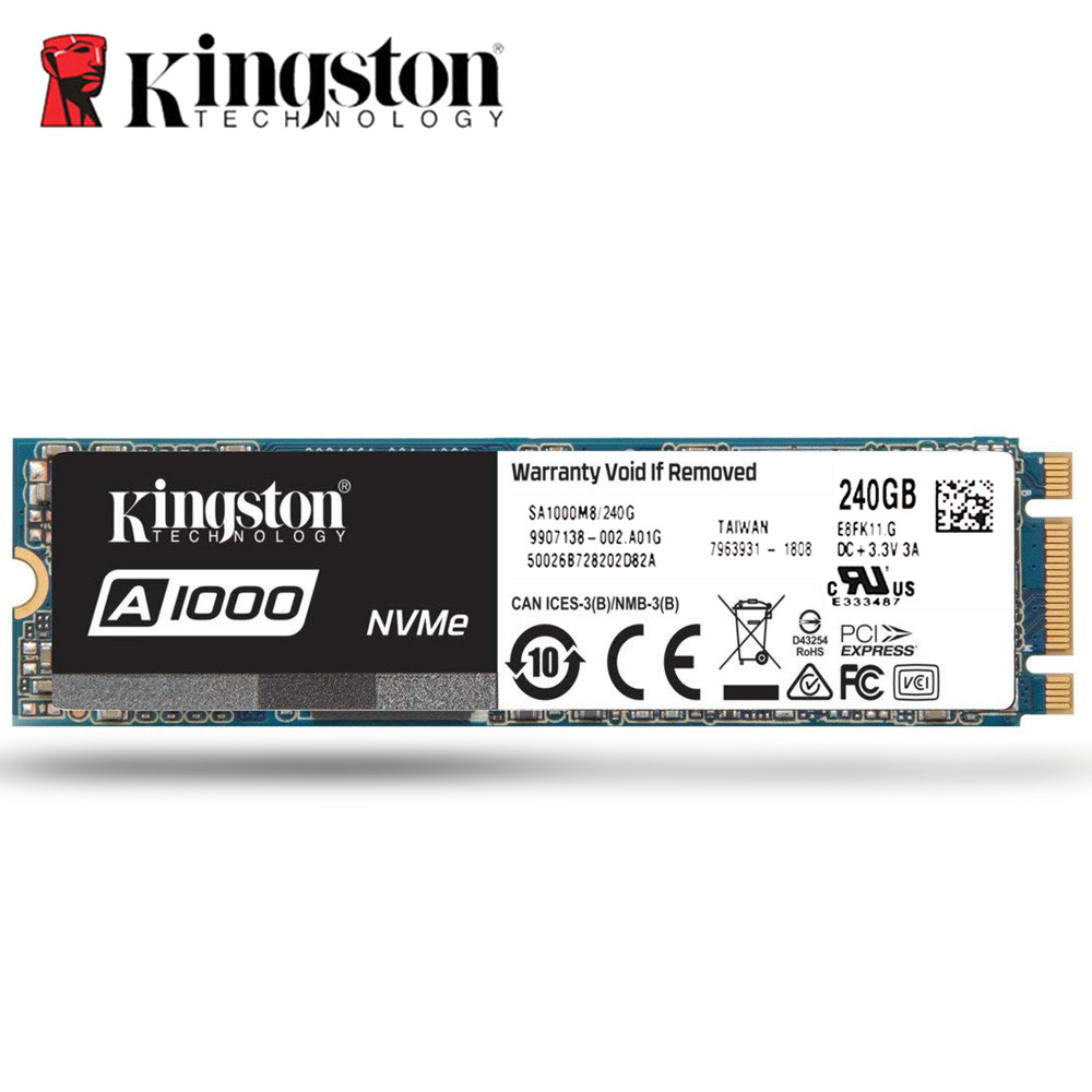 Kingston Internal SSD High Performance Solid State Drive 240gb 480gb 960gb A1000 M.2 2280 Digital SSD TLC sata3 for PC Notebook