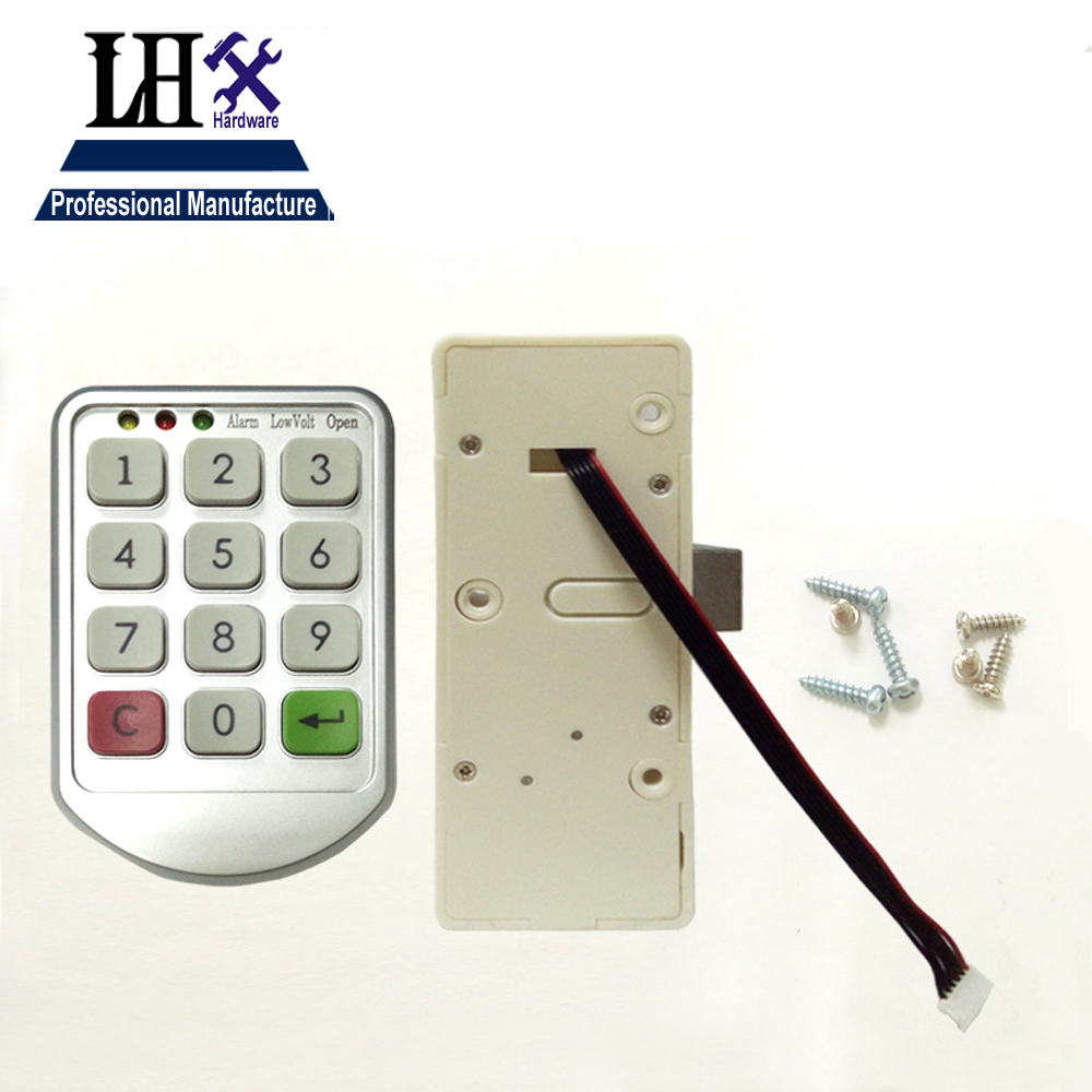 Image 2 - LHX Hardware Password Lock Digital Electronic Password Keypad Number Cabinet Code Locks Intelligent-in Locks from Home Improvement