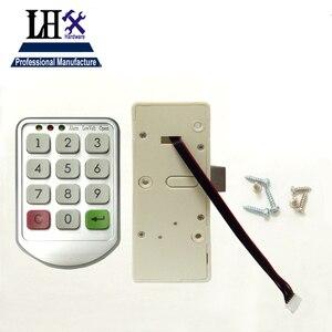 Image 2 - LHX Hardware Password Lock Digital Electronic Password Keypad Number Cabinet Code Locks Intelligent