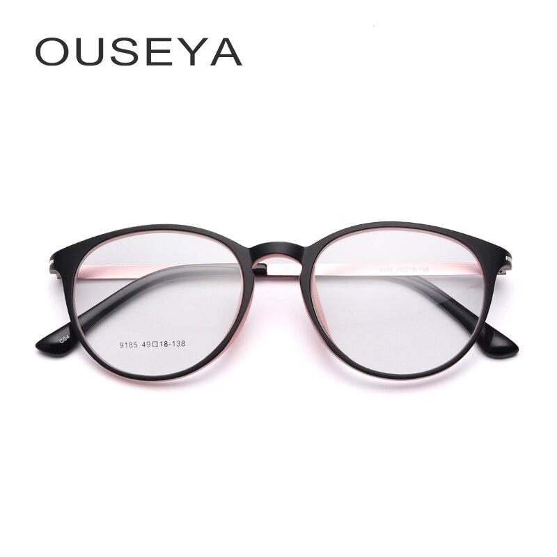 Brillen TR90 Gläser Rahmen Frauen Klar Mode Trendy Oval Optische Brille Keine Grad Brillen Armacao De Oculos #9185