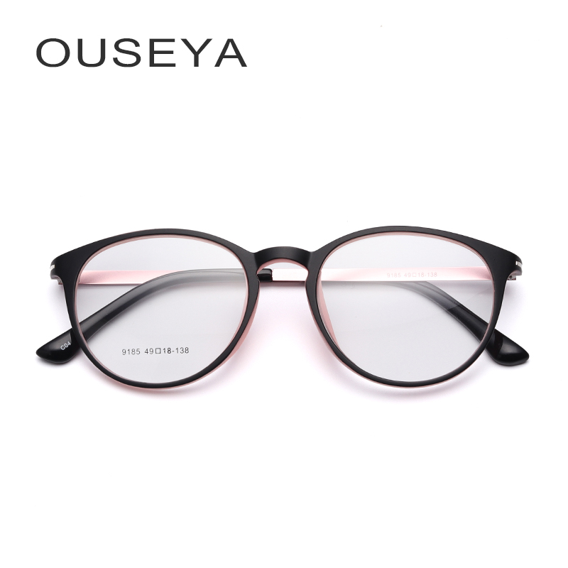 Eyewear TR90 Glasses Frame Women Clear Fashion Trendy Oval Optical Spectacles No Degree Eyeglasses Armacao De Oculos #9185