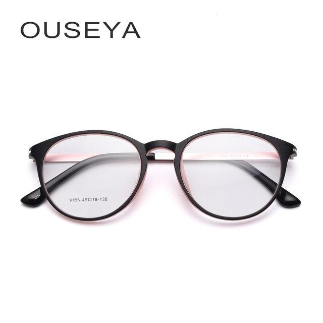 5fbbbe262f371 TR90 armação para oculos de grau feminino Olho De Gato Gatinho Moda de  Grandes Dimensões Oval