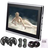 2 беспроводные ИК наушники + 10,1 дюймов Пара автомобильных DVD подголовников мониторы двойные экраны USB SD IR FM передатчик 32 бит игры 2 пути Av