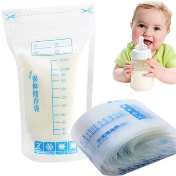 30 pieces/bag Baby Food Storage 250ml Disposable Practical and convenient breast milk Freezer Bags Breast milk storage bag 1