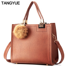TANGYUE Leather Hand Bags for Woman Shoulder Crossbody