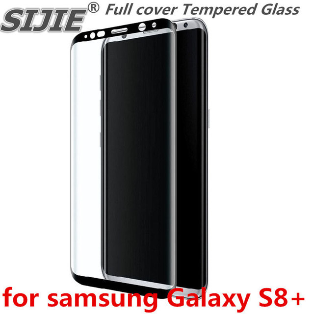 Full cover Tempered Glass for samsung Galaxy S8+ S8 plus S 8  G955 G955F G955FD 6.2 inch Screen Protective Black frame all edge