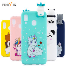 Silicone Case on sFor Coque Samsung Galaxy A30 A50 A70 3D Unicorn Bear Back cover For Etui Cases duos