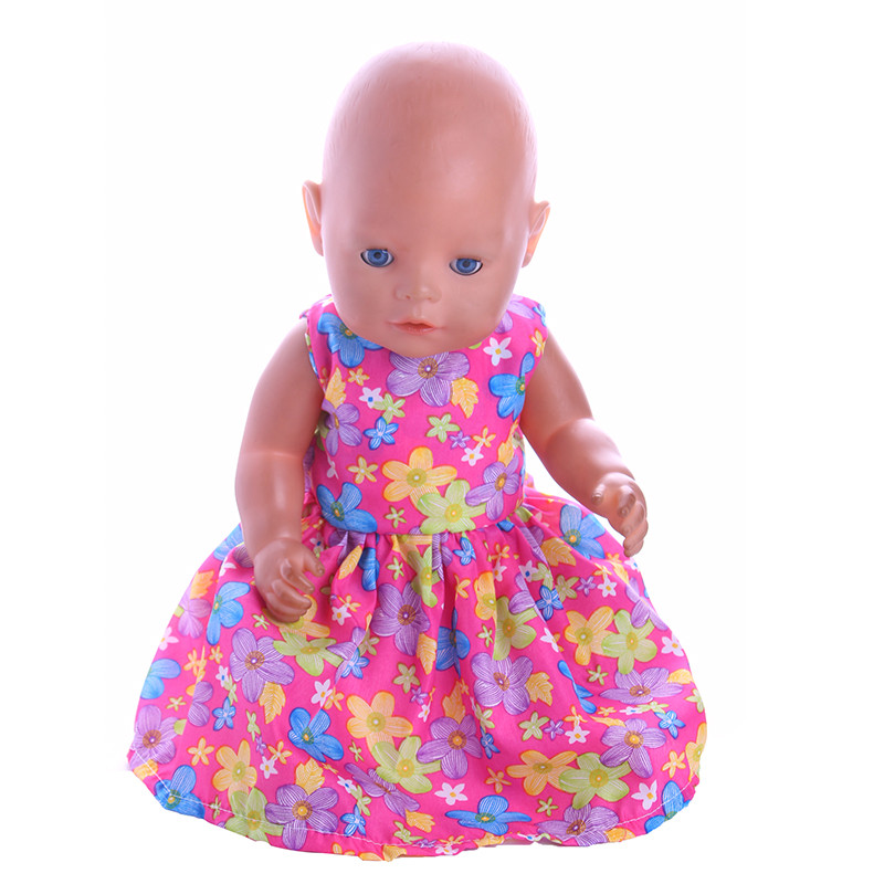 1pcs Handmade Clothes Fit 43cm Zapf Baby Born &18inch American Doll Clothes Children Gift n853